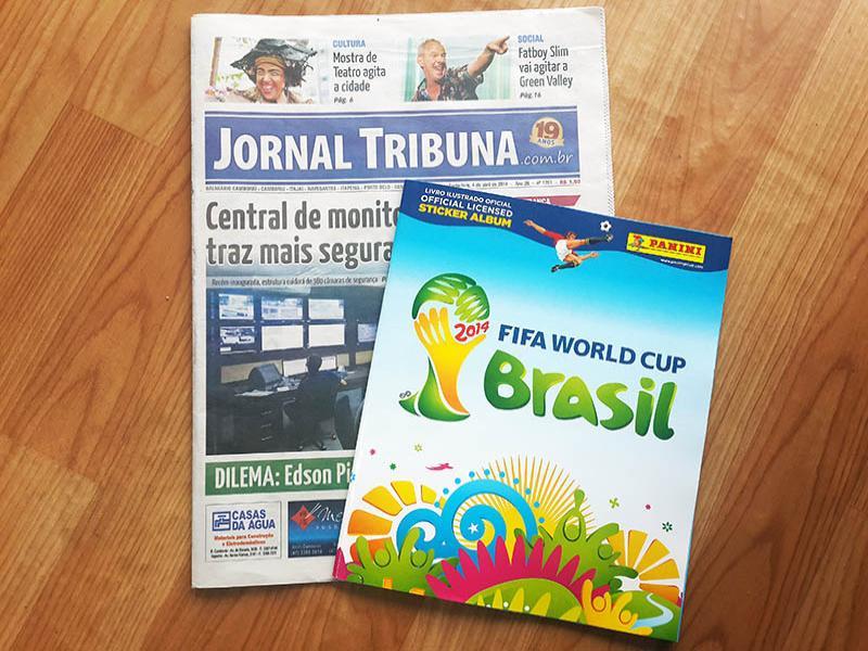 �lbum da Copa ser� encartado  no Jornal Tribuna desta semana
